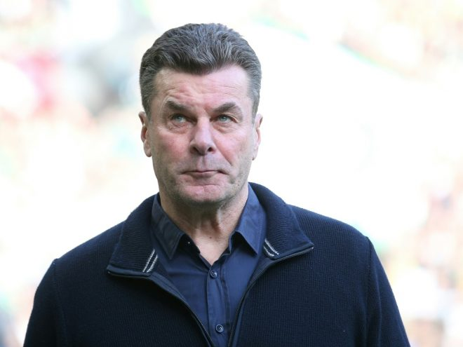 Gladbach Trainer Dieter Hecking bewahrt die Ruhe