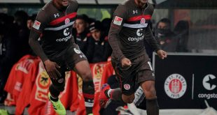 St. Paulis Allagui jubelt nach der 1:0-Führung