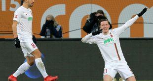 Gregoritsch (r.) erlöste den FCA und erzielte das 1:0
