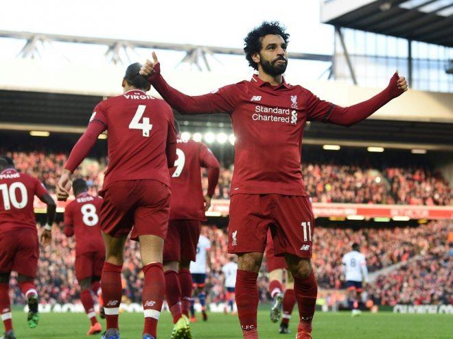 Mohamed Salah erzielte den dritten Treffer für Liverpool