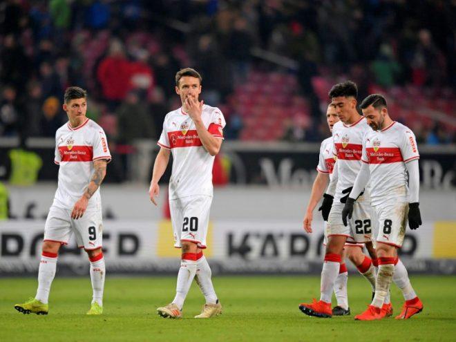 Hängende Köpfe: Der VfB verspielte einen Sieg