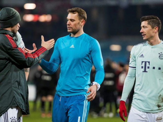 Der Einsatz von Manuel Neuer im Pokal ist weiter offen