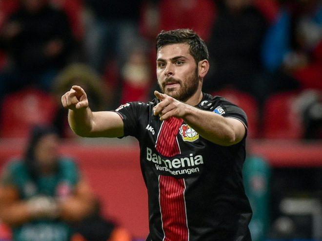 Mit Leverkusen erfolgreich: Kevin Volland