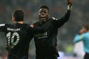 Danny da Costa (r.) erzielte das 1:0 für die Eintracht