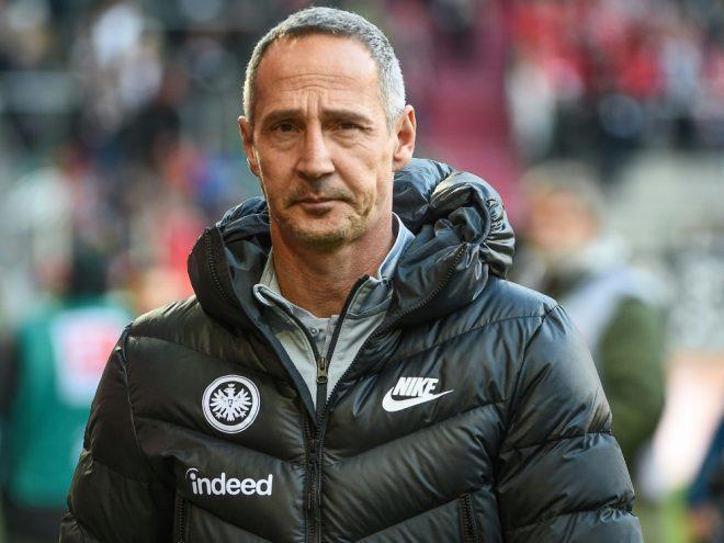 Frankfurt-Coach Adi Hütter will vorne dabei bleiben