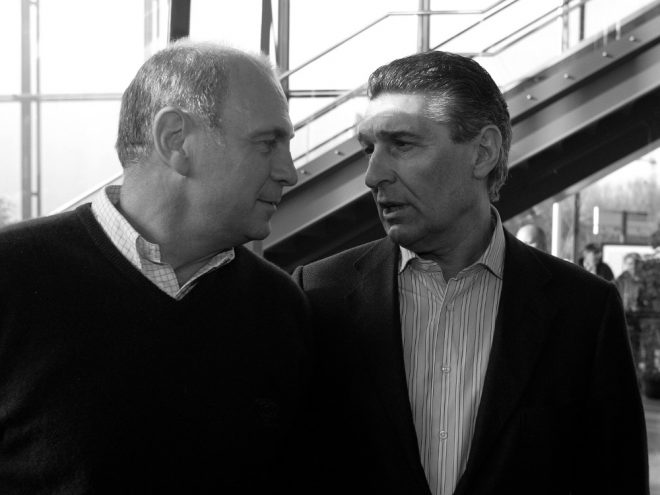 Hoeneß (l.) würdigt Zusammenarbeit mit Assauer