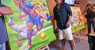Ronaldinho hat eine eigene Kunstausstellung im Maracana