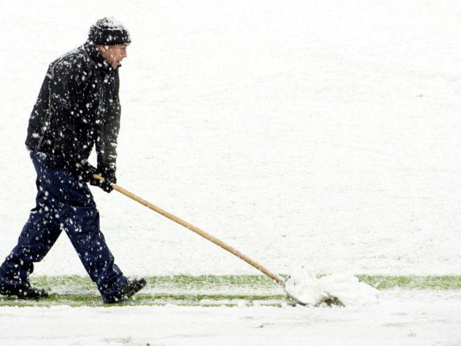 Die Linien in Hannover mussten vom Schnee befreit werden