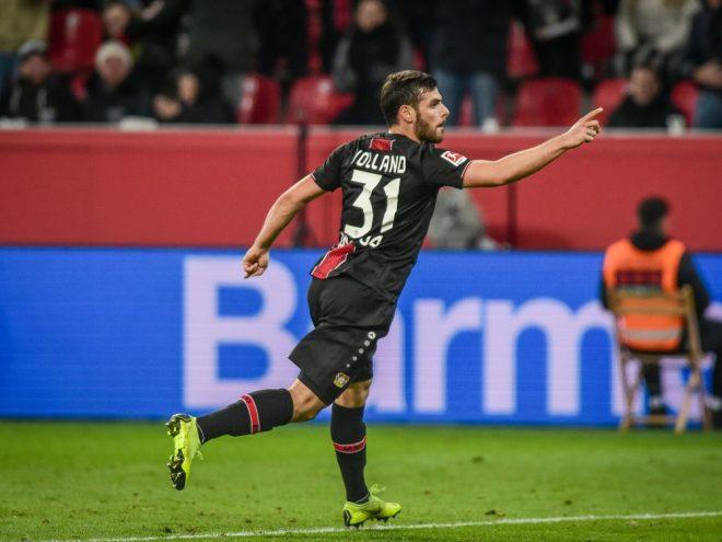 Erzielte zwei Tore beim Leverkusener Sieg: Kevin Volland