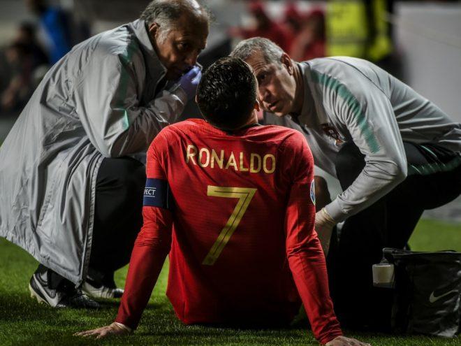 Ronaldo mit Verletzung am Beugemuskel