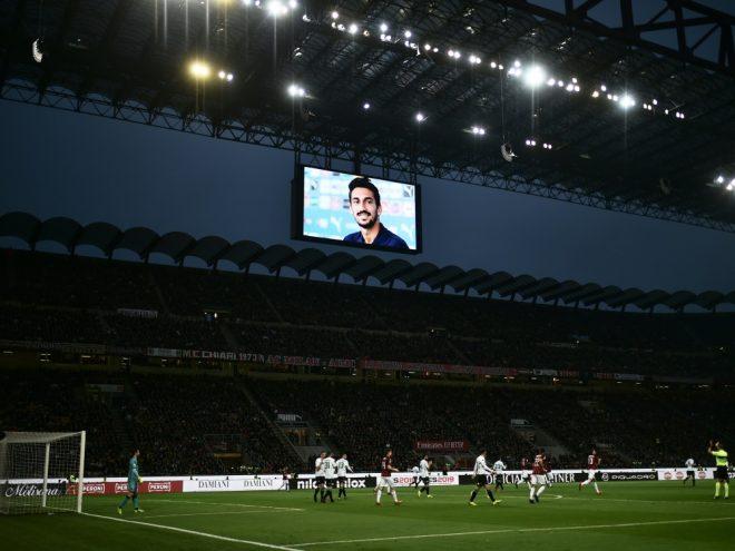 Im Stadion wurde dem verstorbenen Davide Astori gedacht.