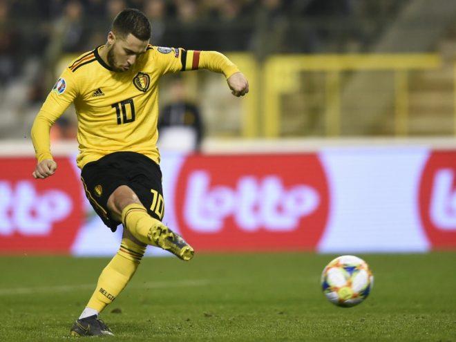 Belgiens Hazard trifft gegen Russland vom Elfmeterpunkt
