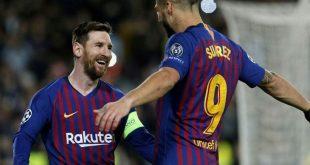 Lionel Messi (l.) führt Barcelona ins Viertelfinale