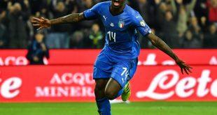 Moise Kean bejubelt seinen Debüttreffer für Italien
