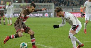 Sobotta (l.) verletzte sich im Spiel gegen Holstein Kiel