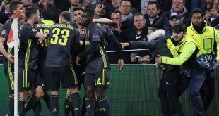 Juventus Turin bejubelt den Treffer Cristiano Ronaldos