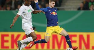 Timo Werner (r.) schoss Leipzig in Führung