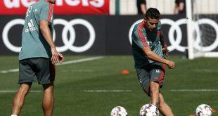 Mats Hummels und James konnten am Montag trainieren