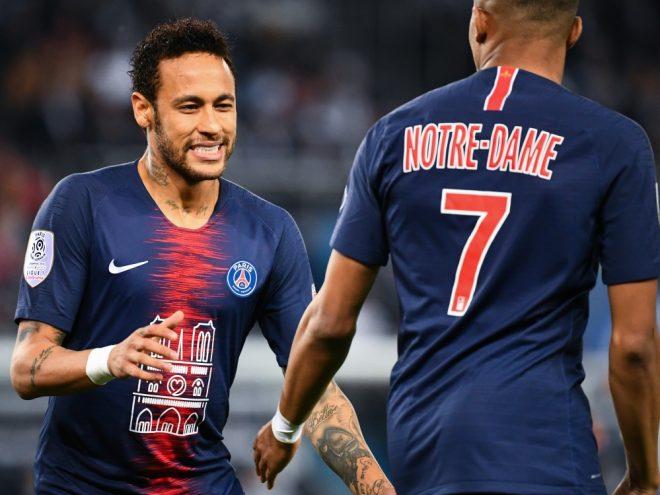 Neymar feierte beim 3:1-Sieg gegen Monaco sein Comeback