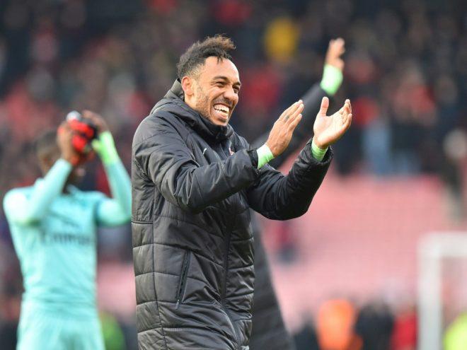 Matchwinner: Arsenals Aubameyang erzielt den Siegtreffer