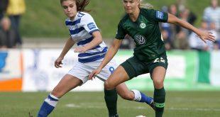 Pernille Harder (r.) erzielt das 4:0 gegen Duisburg