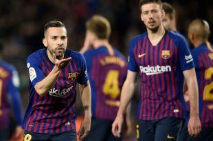 Jordi Alba (l.) und Lenglet (r.) treffen für Barcelona