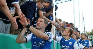 Bielefeld verlängert mit Fabian Klos (l.) bis 2021