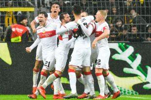 Der VfB Stuttgart gewinnt mit 1:0 gegen Gladbach