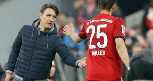 Müller (r.) sieht bei den Bayern kein Trainer-Problem