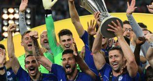 Die Spieler vom FC Chelsea bejubeln ihren Triumph