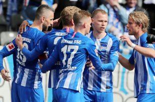 Hertha gewinnt in Augsburg mit 4:3
