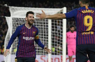 Messi (l.) und Suarez schossen Barcelona zum Sieg