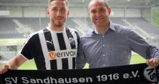 Zweitligist Sandhausen hat Robin Scheu (l.) verpflichtet