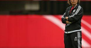 Mit den U17-Juniorinnen im EM-Halbfinale: Ulrike Ballweg