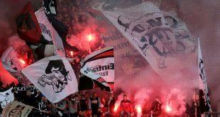 Frankfurt-Fans brannten zweimal Pyrotechnik ab
