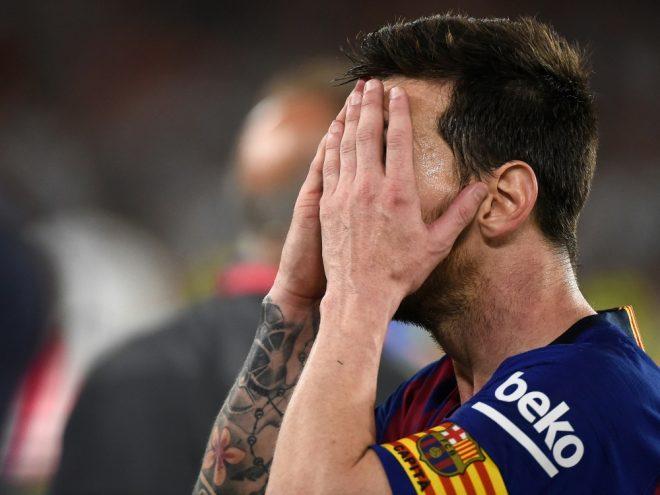 Konnte am Ende nicht mehr hinsehen: Lionel Messi