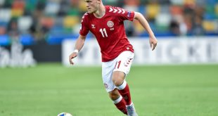 Bruun Larsen erzielte das 1:0 bei Dänemarks Sieg