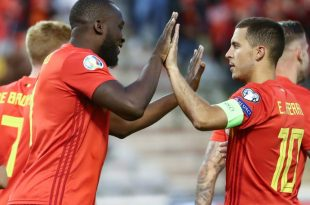 Lukaku (l.) erzielte das 3:0 gegen Kasachstan