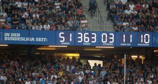 Die Stadion-Uhr hat ausgedient