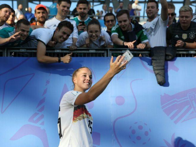 Giulia Gwinn gibt sich vor dem Viertelfinale entspannt