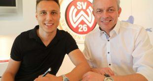 Dominik Franke (l.) wechselt zu Wehen Wiesbaden