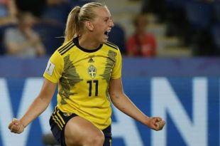Stina Blackstenius schießt Schweden ins Viertelfinale