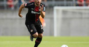 Kevin Volland erzielt das 1:0 für Leverkusen