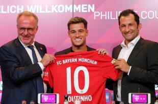 Bayern München stellt Philippe Coutinho vor