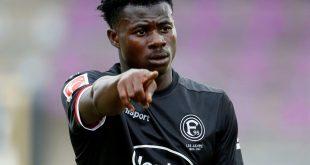 Kelvin Ofori erzielt das 2:1 für die Fortuna