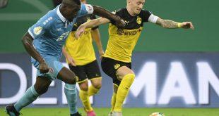 Reus (r.) erzielte den Führungstreffer für den BVB