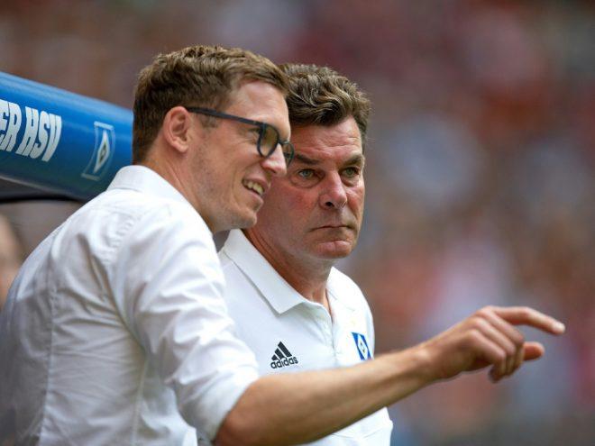 Mutzel (l., mit Dieter Hecking) lobt Kaderplaner Costa