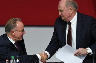 Hoeneß (r.) zieht sich vom Präsidenten-Amt zurück