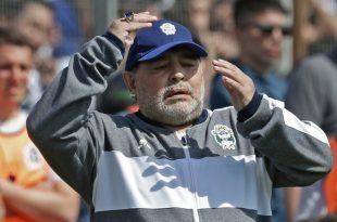 Verlor mit La Plata gegen Racing Club: Diego Maradona