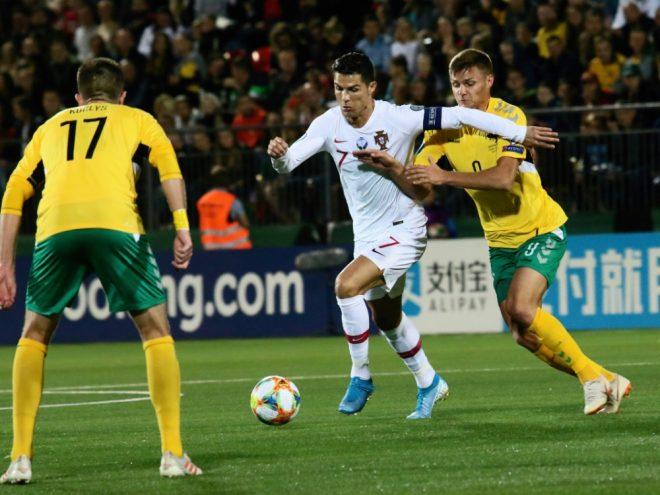 Cristiano Ronaldo erzielte gegen Litauen vier Tore
